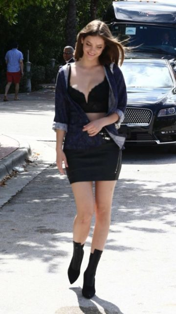 Barbara Palvin in Mini Skirt – Leaving Her Hotel in Miami