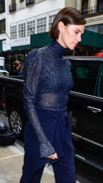 Charlize Theron – Leaving Midtown Hotel in New York