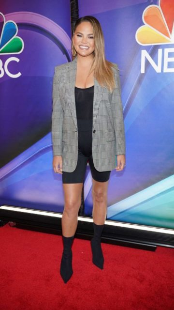 Chrissy Teigen – NBCUniversal Upfront Presentation at Four Seasons Hotel in NYC