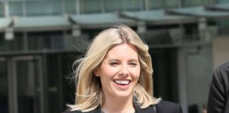 Mollie King – As seen leaving the BBC in London