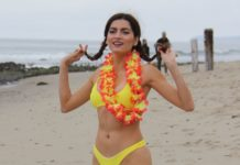 Blanca Blanco in a Bikini – Beach in Malibu