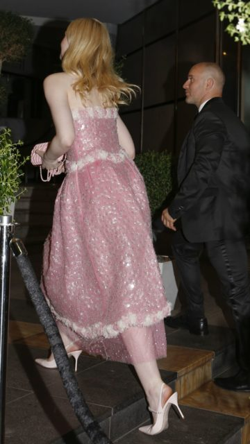 Elle Fanning – Arriving at Chanel Party in Cannes