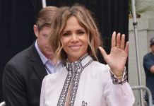 Halle Berry at the Keanu Reeves Hands & Footprints Ceremony in Hollywood