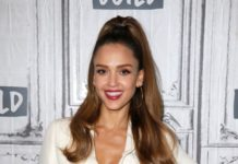 Jessica Alba – Outside BUILD in NYC