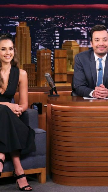 Jessica Alba – The Tonight Show Starring Jimmy Fallon in NYC