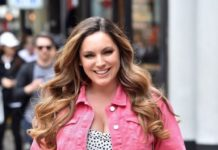 Kelly Brook – Arriving at Global Radio Studios in London
