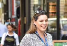 Kelly Brook at the Global Studios in London