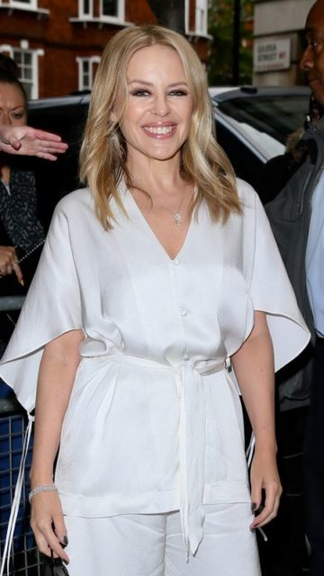 Kylie Minogue – Arriving at Radio 2 in London