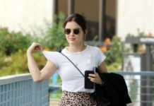 Lucy Hale in Casual Outfit – Los Angeles