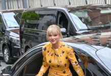 Taylor Swift – Arriving at NRJ Radio Station in Paris