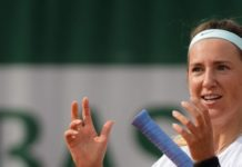 Victoria Azarenka – Practice Prior to the Start of the Roland Garros in Paris