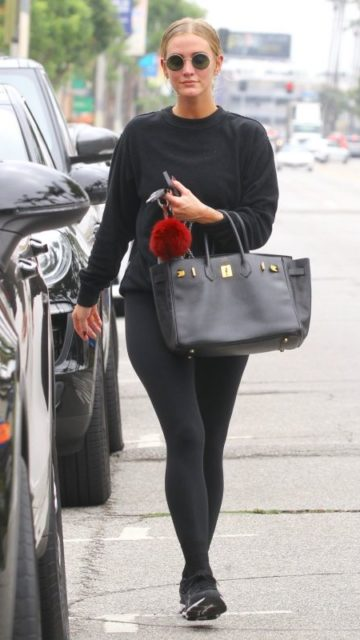 Ashlee Simpson – Leaves the Gym in Studio City