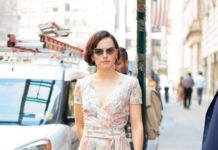 Daisy Ridley in a Floral Dress – New York City