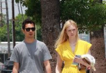 Elle Fanning With Max Minghella – Shopping in LA