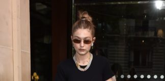 Gigi Hadid – Leaving The Royal Monceau Hotel in Paris