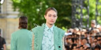 Gigi Hadid – Walks Berluti Menswear Spring Summer 2020 Show in Paris