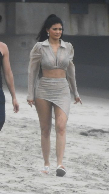 Kylie Jenner – Beach Photoshoot in Malibu