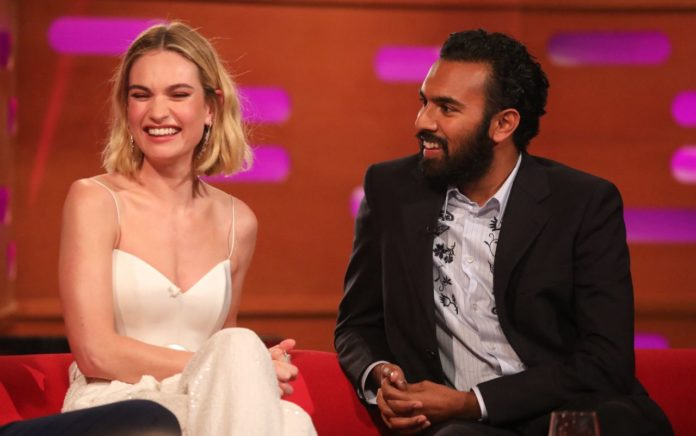 Lily James – Filming For the Graham Norton Show in London