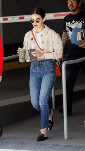 Lucy Hale at the CNN Building in Hollywood