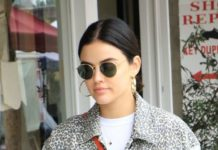 Lucy Hale at the Local Farmer's Market in Studio City