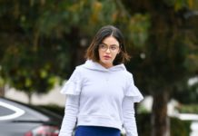 Lucy Hale in Spandex – Out in Studio City