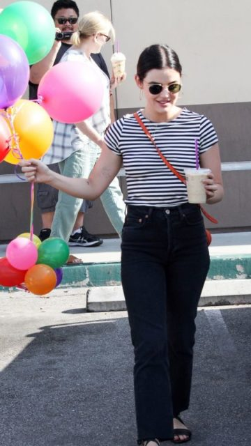 Lucy Hale – Leaves the Coffee Bean in LA