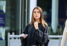 Madison Beer in Tights – Shopping in Beverly Hills