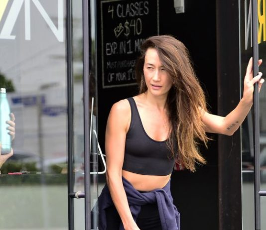 Maggie Q – Leaves a Gym in West Hollywood
