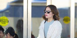 Mandy Moore in Travel Outfit at JFK Airport in New York