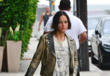 Michelle Rodriguez – Gets Her Dinner To-Go From Giorgio Baldi in Santa Monica