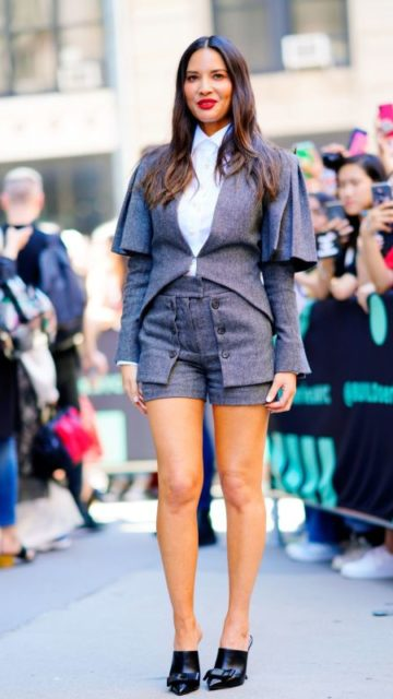 Olivia Munn – Outside BUILD in NYC