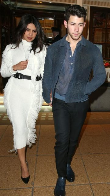 Priyanka Chopra and Nick Jonas – Leaving The Ritz in London