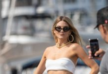 Rachel McCord – Arriving at a Shiseido Yacht Party in LA