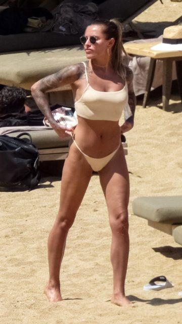 Sophia Thomalla in Bikini at the Beach on Mykonos Island
