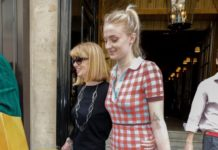 Sophie Turner – Leaving the Royal Monceau Hotel in Paris