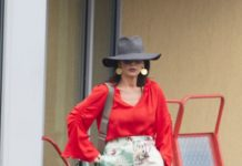 Catherine Zeta-Jones – Catching a Helicopter to Silverstone Grand Prix