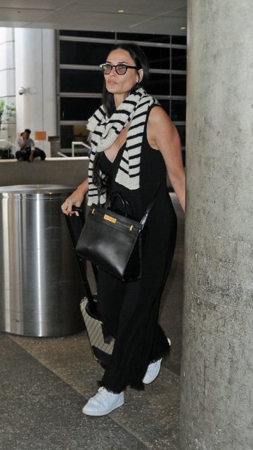 Demi Moore – LAX Airport in Los Angeles