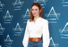 Eleanor Tomlinson – The Illusionists Press Night in London