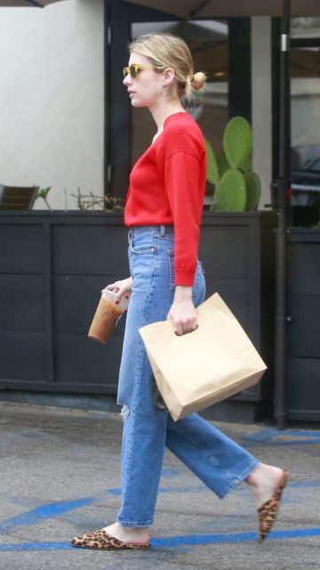 Emma Roberts Street Style – Leaving Stamp in Los Feliz
