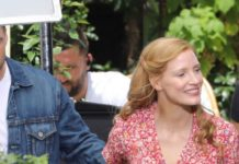 "Jessica Chastain and Sebastian Stan – ""355"" Set in Paris"