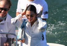 Kendall Jenner Cute Style – On a Boat in Malibu