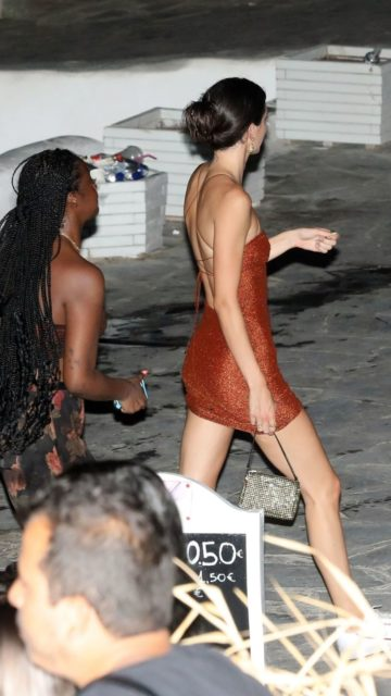 Kendall Jenner Night Out – Mykonos Island
