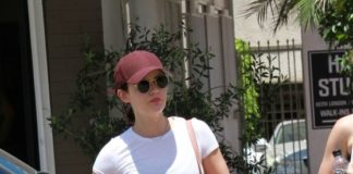 Lucy Hale – Leaves the Gym in Studio City