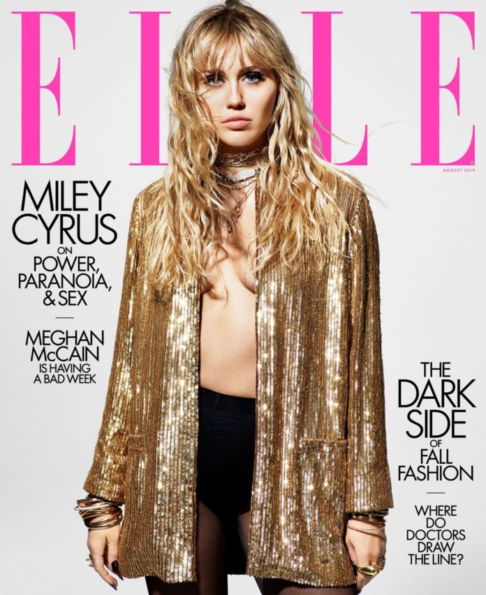Miley Cyrus – ELLE Magazine August 2019