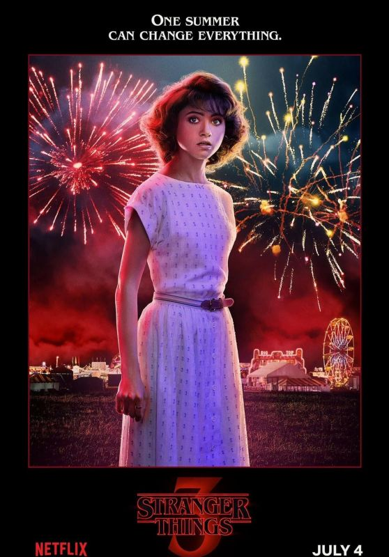 "Natalia Dyer – ""Stranger Things"" Season 3 Poster"