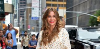 """Sofia Vergara – Arrived at """"The Late Show"""" in NYC"""