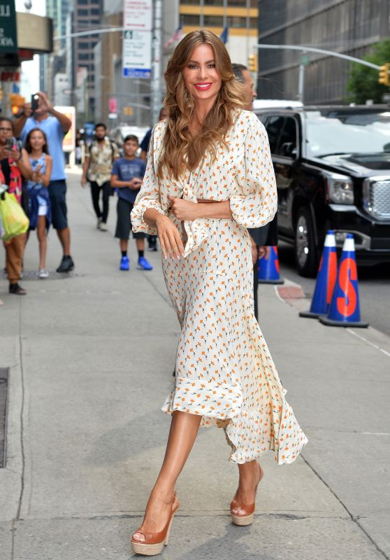 "Sofia Vergara – Arrived at ""The Late Show"" in NYC"