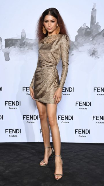 Zendaya – Cocktail at Fendi Couture Fall Winter 2019/2020 in Rome