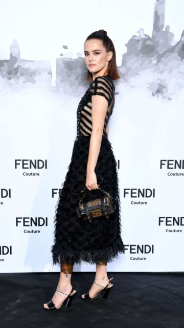 Zoey Deutch – Fendi Couture Fall Winter Cocktail in Rome