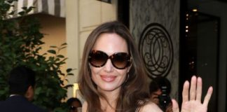 Angelina Jolie With Jacqueline Bisset on the Champs Elysees in Paris
